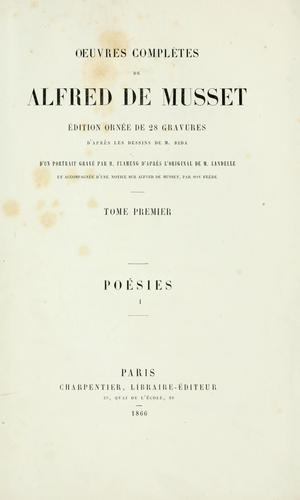Oeuvres complètes de Alfred de Musset