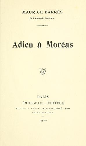 Download Adieu à Moréas.
