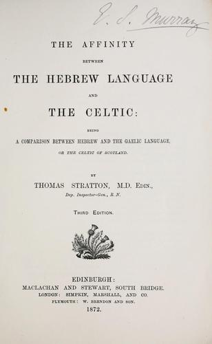 The affinity between the Hebrew language and the Celtic
