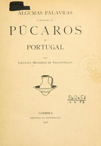 Algumas palavras a respeito de púcaros de Portugal