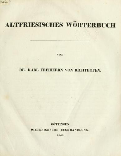 Download Altfriesisches Wörterbuch