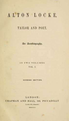 Download Alton Locke, tailor and poet