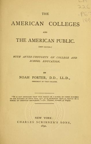 Download The American colleges and the American public
