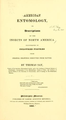 American entomology, or, Descriptions of the insects of North America