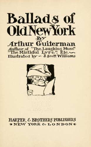 Ballads of old New York.