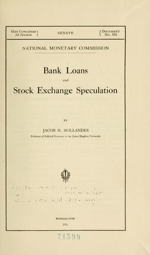 Download Bank loans and stock exchange speculation