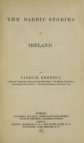 The bardic stories of Ireland