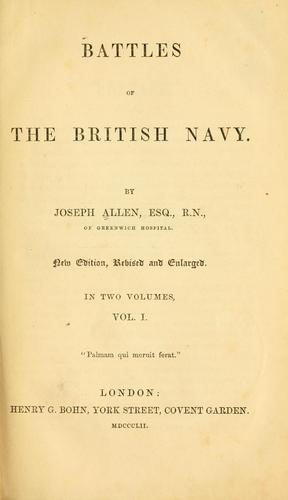 Download Battles of the British navy.