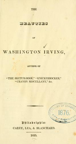 The beauties of Washington Irving.