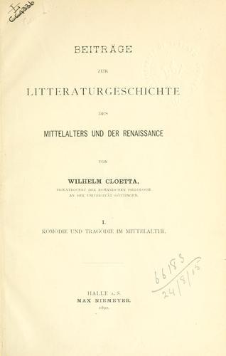 Download Beiträge zur Litteraturgeschichte des Mittelalters und der Renaissance