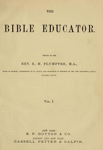 Download The Bible educator