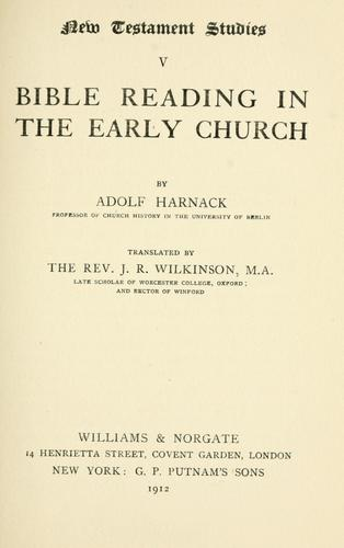 Download Bible reading in the early church
