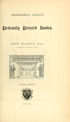 Download Bibliographical catalogue of privately printed books.