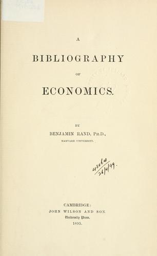 Download A bibliography of economics.