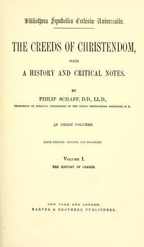Bibliotheca symbolica ecclesiæ universalis.