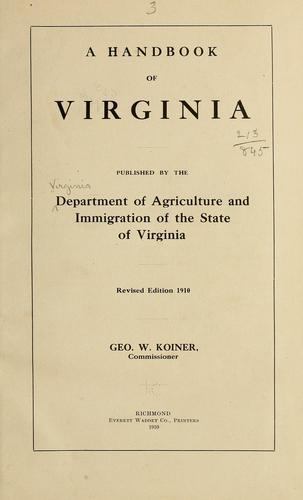 A handbook of Virginia