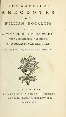 Download Biographical anecdotes of William Hogarth