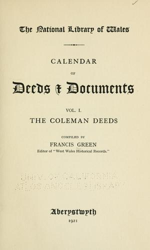 Download Calendar of deeds and documents …