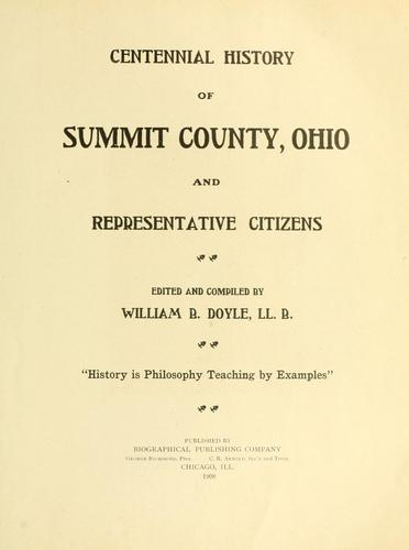 Download Centennial history of Summit County, Ohio and representative citizens