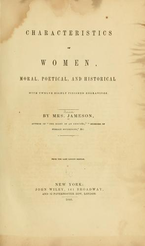 Download Characteristics of women, moral, poetical and historical