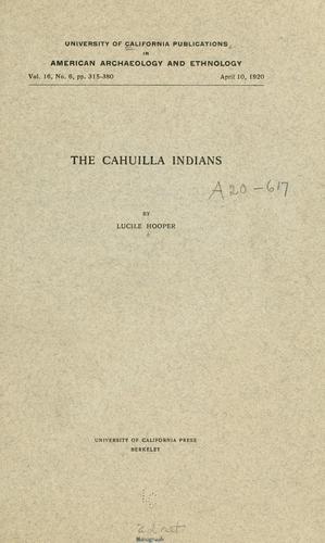 The Cahuilla Indians