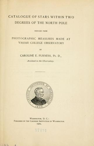 Catalogue of stars within two degrees of the North Pole, deduced from photographic measures made at Vassar College Observatory