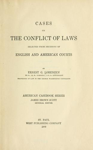 Download Cases on the conflict of laws