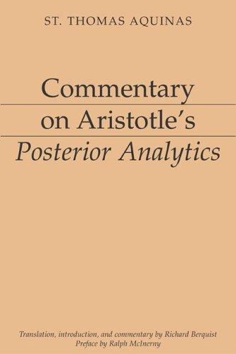 Download Commentary on Aristotle's Posterior Analytics