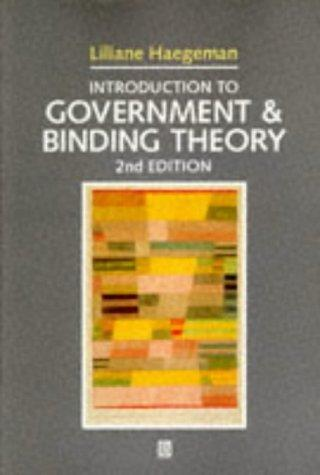 Download Introduction to government and binding theory