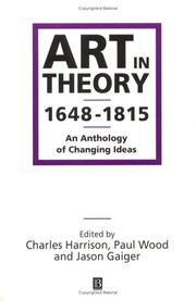 Art In Theory 1648-1815: An Anthology Of Changing Ideas PDF Download
