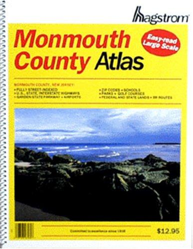 Monmouth County Map. Hagstrom Monmouth County Atlas by Hagstrom Map Company