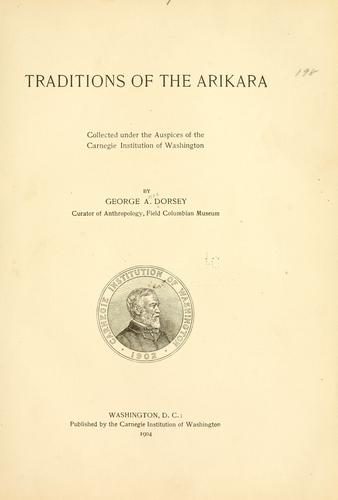 Download Traditions of the Arikara