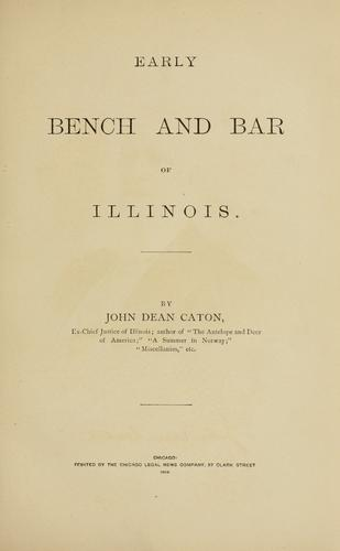 Download Early bench and bar of Illinois