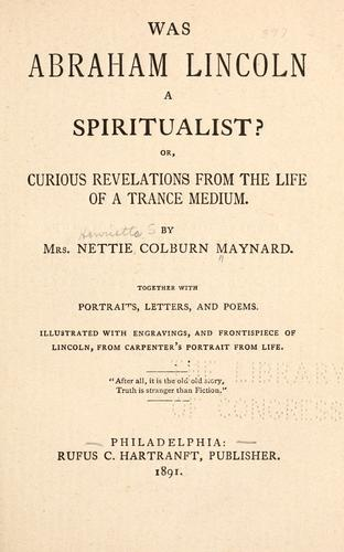 Download Was Abraham Lincoln a spiritualist?