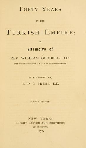 Download Forty years in the Turkish empire