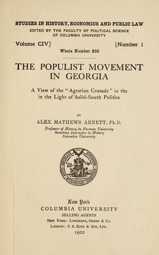 The Populist movement in Georgia