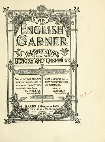 Download An English garner