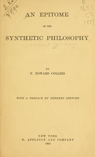 Download An epitome of the synthetic philosophy