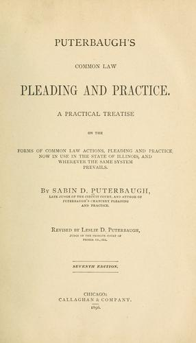 Download Puterbaugh's common law pleading and practice.