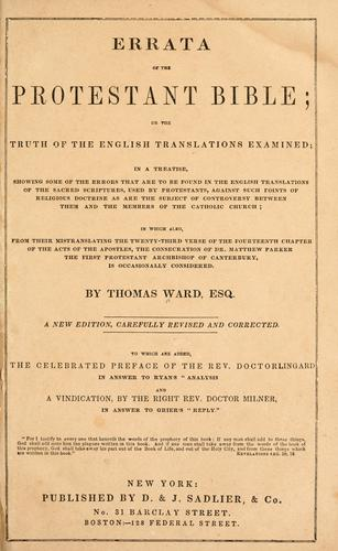 Download Errata of the Protestant Bible