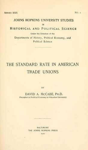 Download The standard rate in American trade unions