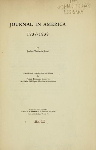 Journal in America, 1837-1838