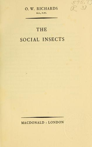 The social insects.