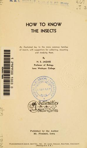 Download How to know the insects