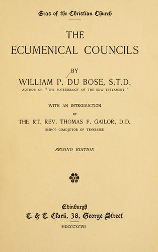 The ecumenical councils
