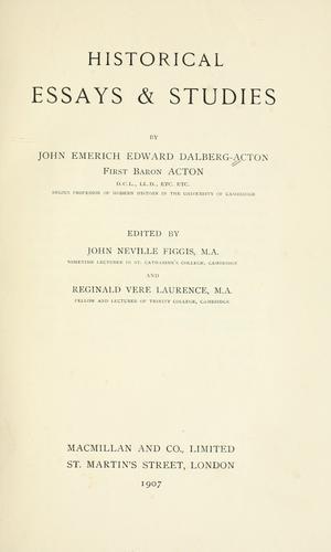 Historical essays & studies