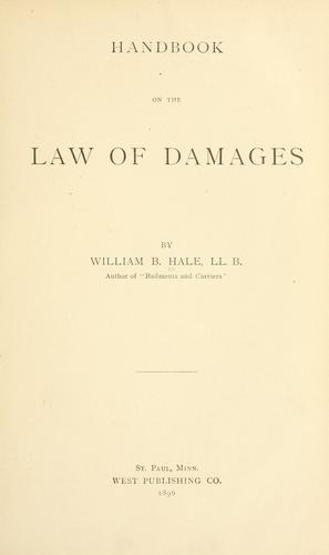 Download Handbook on the law of damages