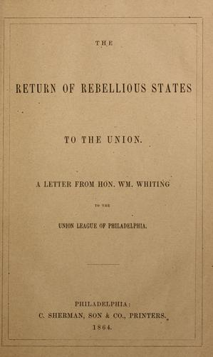 The return of rebellious states to the union