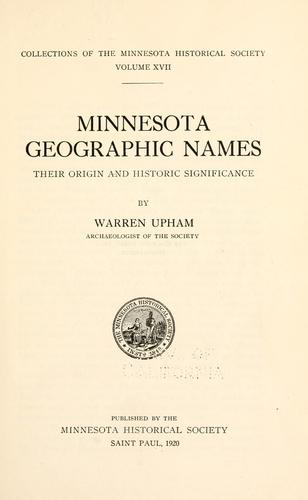Download Minnesota geographic names