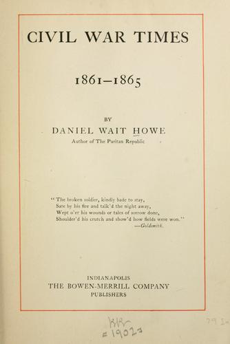 Download Civil War times, 1861-1865.